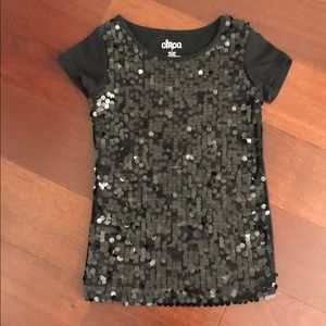 Bling! Black sequined T-shirt size S